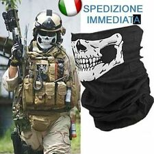 BANDANA SCALDACOLLO TESCHIO GHOST SOFTAIR MOTO SKULL GADGET REGALO HALLOWEEN