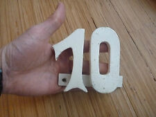 TEN 10 TENTH X   1950S IRON NUMBER 10  HOUSE BIRTHDAY ANNIVERSARY SPECIAL NUMBER