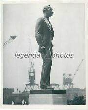1948 Henry Ford Statue Original News Service Photo