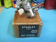 STANLEY #49 AJUSTABLE BIT DEPTH GAUGE DRILL HAND TOOL WOODWORKING BRACE vintage