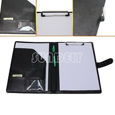 A4 PU Conference Folder Leather Portfolio Document Case Bag Portfolio