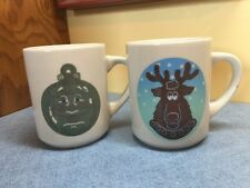 2 Original Denny's Restaurant Heat Activated Color Changing Coffee Coco Mugs
