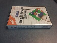 Reggie Jackson Baseball Sega Master System Re release version Factory Sealed