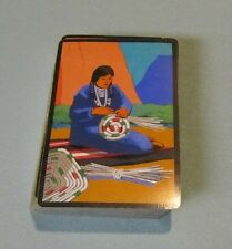 Vintage Indian Woman Crafting a Basket Playing Cards Deck Great Colors
