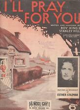 Sheet music of I'll Pray For You by Roy King and Stanley Hill