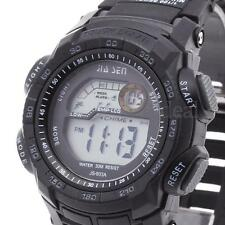 Mens LED Digital Wrist Watch Alarm Calendar Time Plastic Band Sport