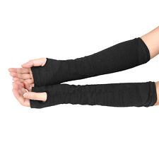 Gift Winter Long Fingerless Gloves Wrist Arm Hand Warmer Knitted Mitten