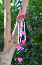 New Charming Wood Windchimes Tuned Handcrafted Wind Chime with Metal pipes