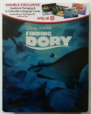 NEW DISNEY FINDING DORY BLU RAY DVD TARGET EXCLUSIVE STEELBOOK 4 LITHOGRAPH CARD