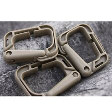 1PC Outdoor D-Molle webbing Plastic Steel backpack Vest Carabiner Buckle Khaki 2