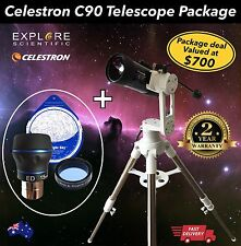 Celestron C90 MAK Telescope Package Explore Scientific Twilight Mount + Eyepiece