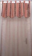 Rideau voilage Lin cantonnière festonnée Ninon 130 x 270cm Comptoir de famille