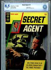 Gold Key Secret Agent #1 CBCS 8.5 1966 Photo Back Patrick McGoohan John Drake