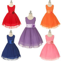 Kid Girl Flower Princess Occasion Wedding Party Pageant Communion Evening Dress