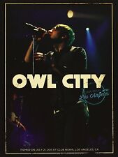 """DVD DIGIPACK NEUF """"OWL CITY - LIVE FROM LOS ANGELES"""" concert 21 titres / 2011"""