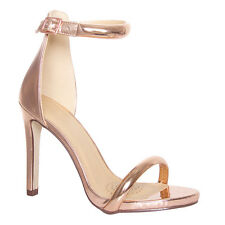 Womens Ladies Barely There Ankle Strap Buckle Sandels High Heel Peep Toe Size