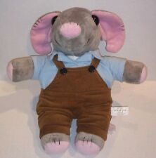 World War Z Subway Sam grey Mouse brown overalls plush stuffed talking 13 inch
