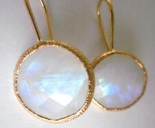 Mondstein Ohrringe, 925 Silber vergoldet