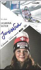 Autogramm AK Jasmina Suter Ski alpine Schweiz handsigniert Schwester v.Raphaela