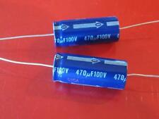 Electrolytic 470uF 470 uF 100V 85c Axial Capacitor ( Qty 2 ) *** NEW ***