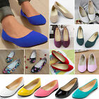 WOMENS LADIES FLATS BALLET BALLERINA PUMPS PLAIN WORK SCHOOL CASUAL DOLLY SHOES