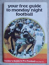YOUR FREE GUIDE TO MONDAY NIGHT FOOTBALL 1976 Howard Cosell Frank Gifford L@@K!