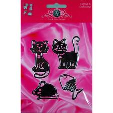 "Lin & Lene Cut & Emboss Dies 4/Pkg ~ Cats, Fish & Mouse, 1.625 To 2.75"" ~ NIP"