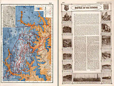 WWI MAP + ARTICLE & PICS ~WESTERN FRONT BATTLE OF THE SOMME FRANCE TRENCHES