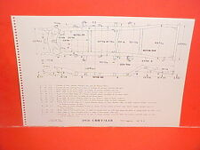 1956 CHRYSLER IMPERIAL SOUTH HAMPTON HARDTOP COUPE SEDAN FRAME DIMENSION CHART