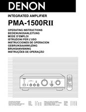 Denon PMA-1500R Amplifier Owners Manual