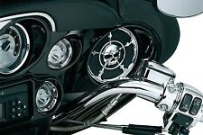 Kuryakyn Chrome Zombie Front Fairing Speaker Grills for Harley FLH/T 96-13