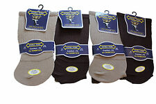 12 pairs mens extra wide socks for diabetics.mixed colours