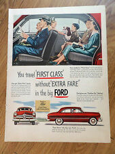 1950 Ford Custom Ad First Class w/o Extra Fare