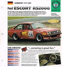 FORD ESCORT RS2000 / RS-2000 IMP Brochure: 1980,1979,1978,......