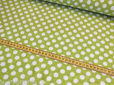 Baumwolljersey Tupfen Punkte maigrün weiß 0,50 x1,50m Meterware Pumphose