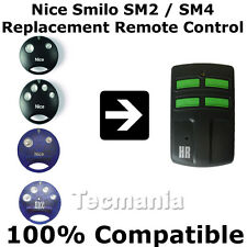 Nice Smilo SM2 SM4 Replacement Remote Control Garage Gate 433.92Mhz Rolling Code
