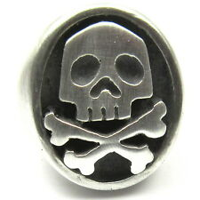 MJG STERLING SILVER CAPTAIN HARLOCK SKULL RING. COMIC CON. SZ 10