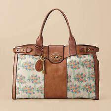Super Rare! Fossil Vintage Reissue XL Weekender Tote Bag Handbag Floral Design