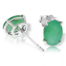 1.8 Carat 14K Solid White Gold Stud Earrings Natural Emerald
