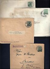 PALESTINE GERMANY 1905 13 OFFICES IN JERUSALEM FOUR POSTAL STATIONARY TWO COVER