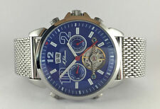 NEW M. JOHANSSON MENS AUTOMATIC WRIST WATCH STAINLESS STEEL BLUE LatosSSBL