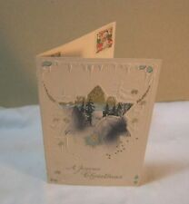 1914 SANTA GERMAN CHRISTMAS EMBOSSED CARD POSTCARD & RED CROSS STAMPS        T*