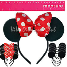 12 Pc Minnie Mouse Ears Headband Puffy Red Polka Bow Mickey Party Favors Costume