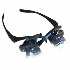 10X 20X LED Magnifier Magnifying Double Eye Glasses Loupe Lens Jeweler Repair