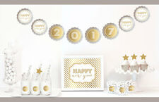 Gold And Glitter New Years Eve Party Decorations Kit