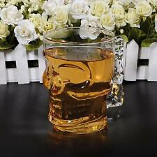 Crystal Skull Head Vodka Wine Shot Glass Drinking Cup Home Bar 500ML / 18oz R