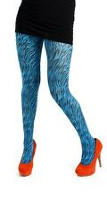 Pamela Mann Baby Zebra  Printed Tights - Flo Turquoise One Size Fits Most
