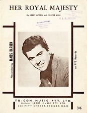 JAMES DARREN - Her Royal Majesty - Vintage 60s Sheet Music