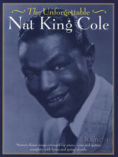 La Inolvidable Nat King Cole Piano Vocal Guitarra Libro De Partituras