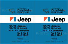 1962-1973 Jeep CJ Parts Book CJ3B CJ5 CJ5A CJ6 CJ6A Dispatcher DJ5 DJ6 Catalog